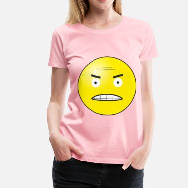 Angry Emoticon Angry emoticon - Women's Premium T-Shirt