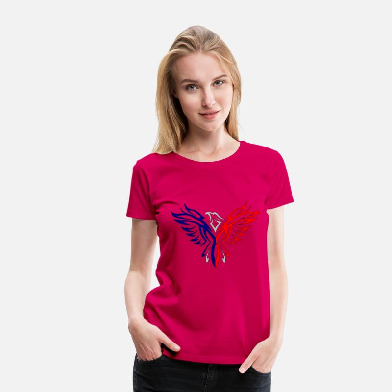 Fusion Eagle Red And Blue Women's Premium T-Shirt - dark pink