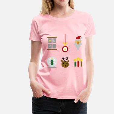 Iconic Christmas Holidays Festive Christmas Icons - Women's Premium T-Shirt
