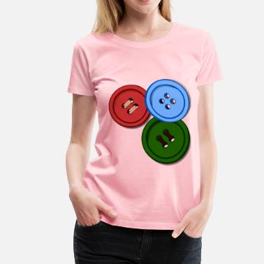 Enlightened Clothing buttons coloured - Women's Premium T-Shirt
