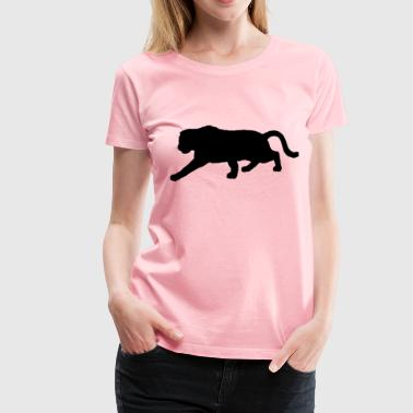 Furry Panther Silhouette Variation 2 - Women's Premium T-Shirt