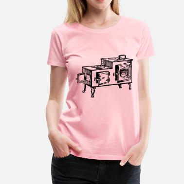 Old Fashioned Old fashioned stove - Women's Premium T-Shirt