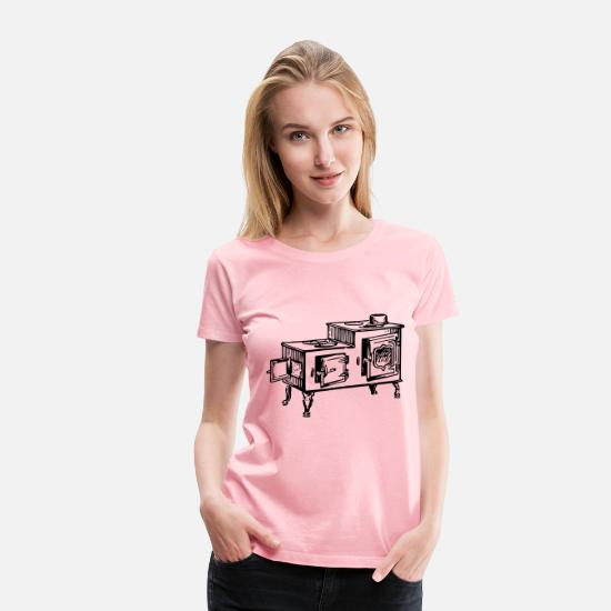 Age T-Shirts - Old fashioned stove - Women's Premium T-Shirt pink