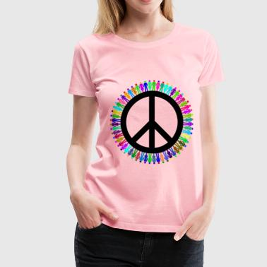 Prismatic People For Peace Mark III - Women's Premium T-Shirt