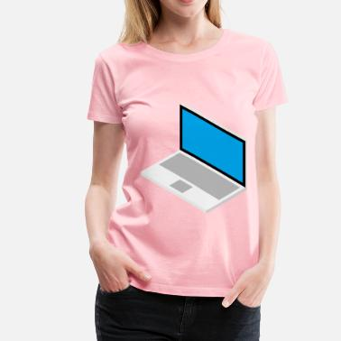 3d Drawing 3D Laptop Isometric Design Drawing - Women's Premium T-Shirt