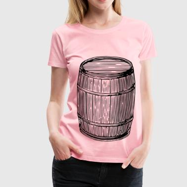 Wine Barrel Barrel - Women's Premium T-Shirt
