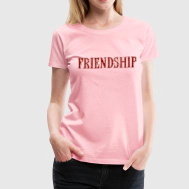 Noble characteristic typography friendship - Women's Premium T-Shirt