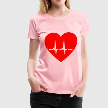 EKG Heart - Women's Premium T-Shirt