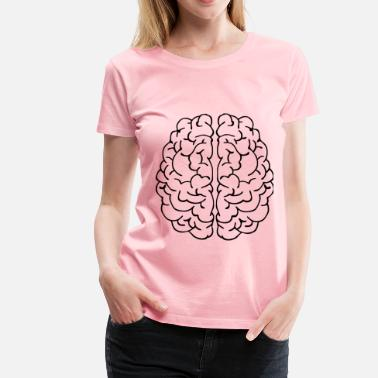 Brain Art Abstract Brain Line Art - Women's Premium T-Shirt