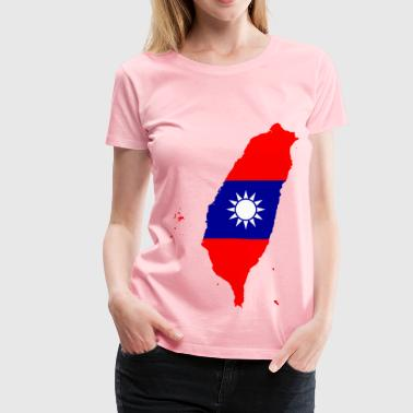 Taiwan Map Flag - Women's Premium T-Shirt