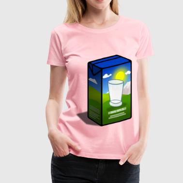 Soy Milk Carton - Women's Premium T-Shirt