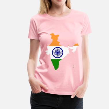 India Map India Map Flag - Women's Premium T-Shirt