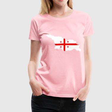Georgia State Map Georgia Map Flag - Women's Premium T-Shirt