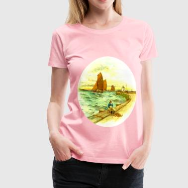 Harbour scene - Women's Premium T-Shirt