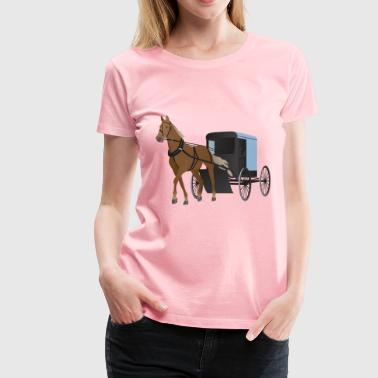 Amish Buggy and Horse - Women's Premium T-Shirt