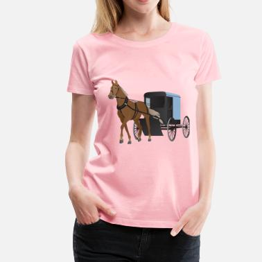 Amish Horse Buggy Amish Buggy and Horse - Women's Premium T-Shirt