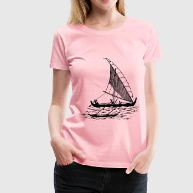 Boat with outrigger - Women's Premium T-Shirt