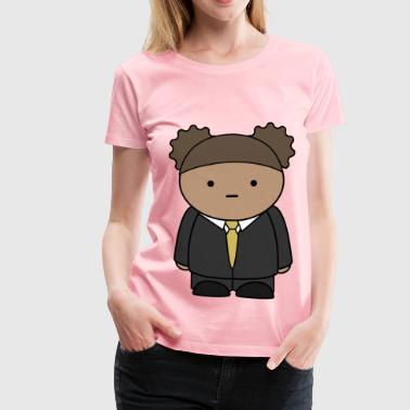 Comic character wearing a business suit - Women's Premium T-Shirt