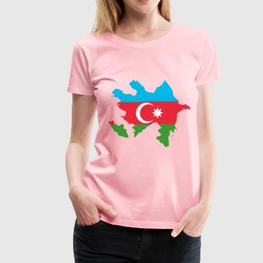Azerbaijan Map Flag - Women's Premium T-Shirt