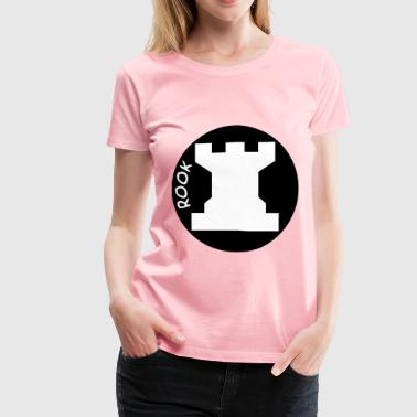 Chess Piece with Name – White Rook - Women's Premium T-Shirt