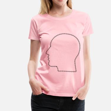 Acid Head DNA Helix Man Head - Women's Premium T-Shirt