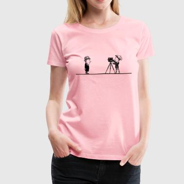 Filming Old Movie - Women's Premium T-Shirt