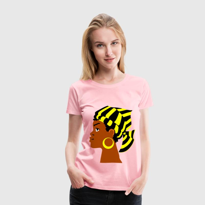 African Lady s Head - Women's Premium T-Shirt