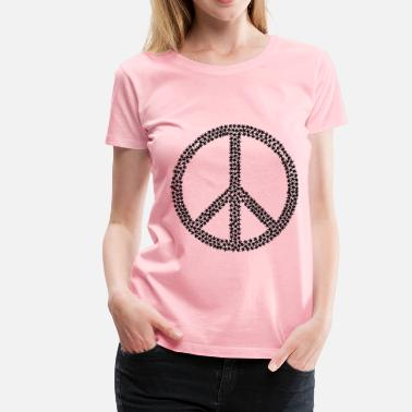 Black Peace Sign Marijuana Peace Sign Black - Women's Premium T-Shirt