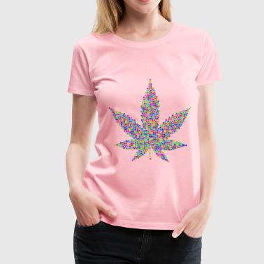 Marijuana Leaf Tiles - Women's Premium T-Shirt
