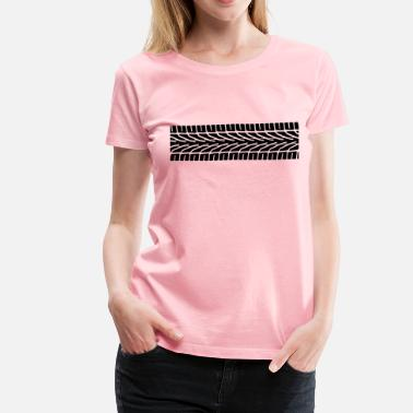 Tire Tread Tire Tracks - Women's Premium T-Shirt