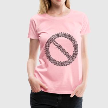 Prohibited No Sign Fractal - Women's Premium T-Shirt