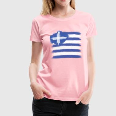Greece Flag greek - Women's Premium T-Shirt