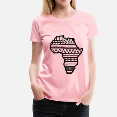 Africa Map Designs Africa pattern on map - Women's Premium T-Shirt