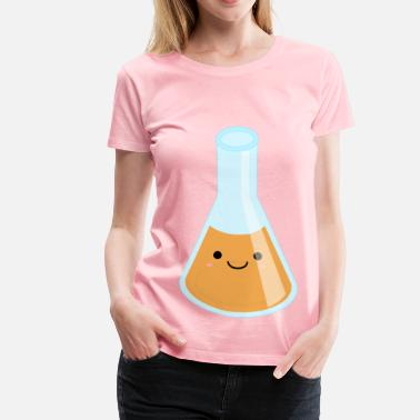 Erlenmeyer Flask Full Kawaii Erlenmeyer Flask - Women's Premium T-Shirt