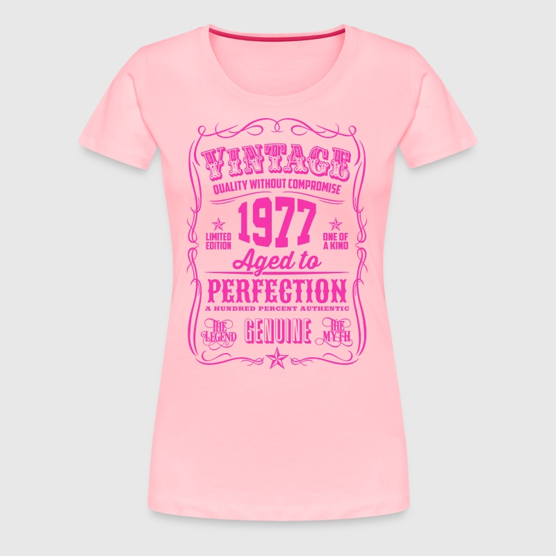 Vintage 1977 Aged to Perfection 39th Birthday - Women's Premium T-Shirt
