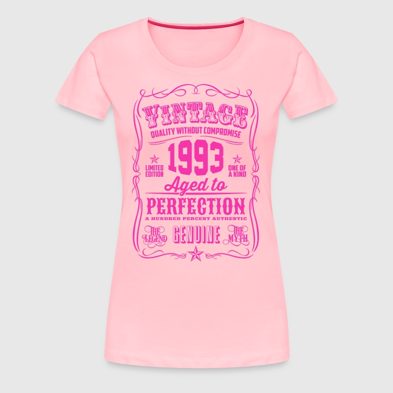 Vintage 1993 Aged to Perfection 23th Birthday - Women's Premium T-Shirt