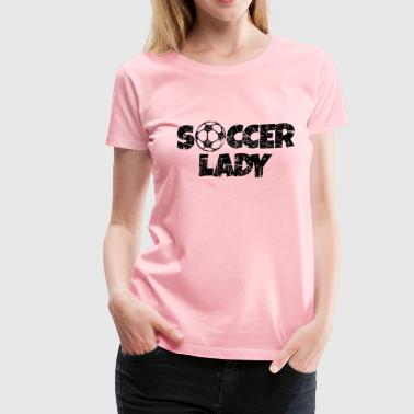 Soccer Lady Women's Soccer Design - Women's Premium T-Shirt