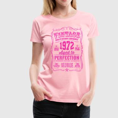 Seventies Aged To Perfection Vintage 1972 Aged to Perfection Pink Print - Women's Premium T-Shirt