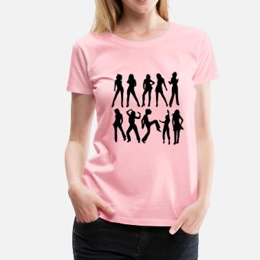 Female Silhouette female silhouettes - Women's Premium T-Shirt