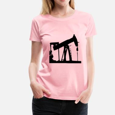 Vintage Oil Oil Drill - Women's Premium T-Shirt
