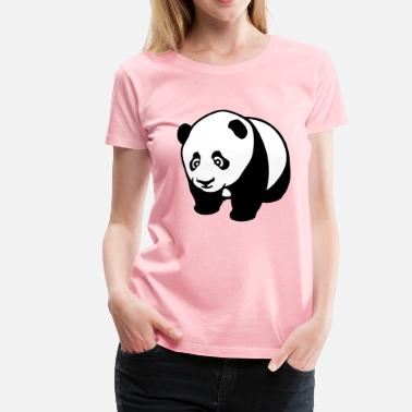 Panda Mugs Panda cute - Women's Premium T-Shirt