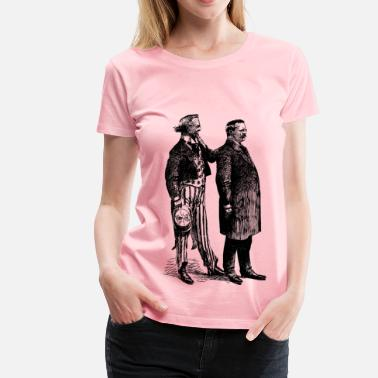 Teddy Man Uncle Sam and Teddy - Women's Premium T-Shirt