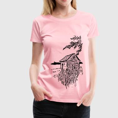 Cabin On The Plains - Women's Premium T-Shirt