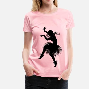 Outline Dancer Hula Dancer Outline - Women's Premium T-Shirt