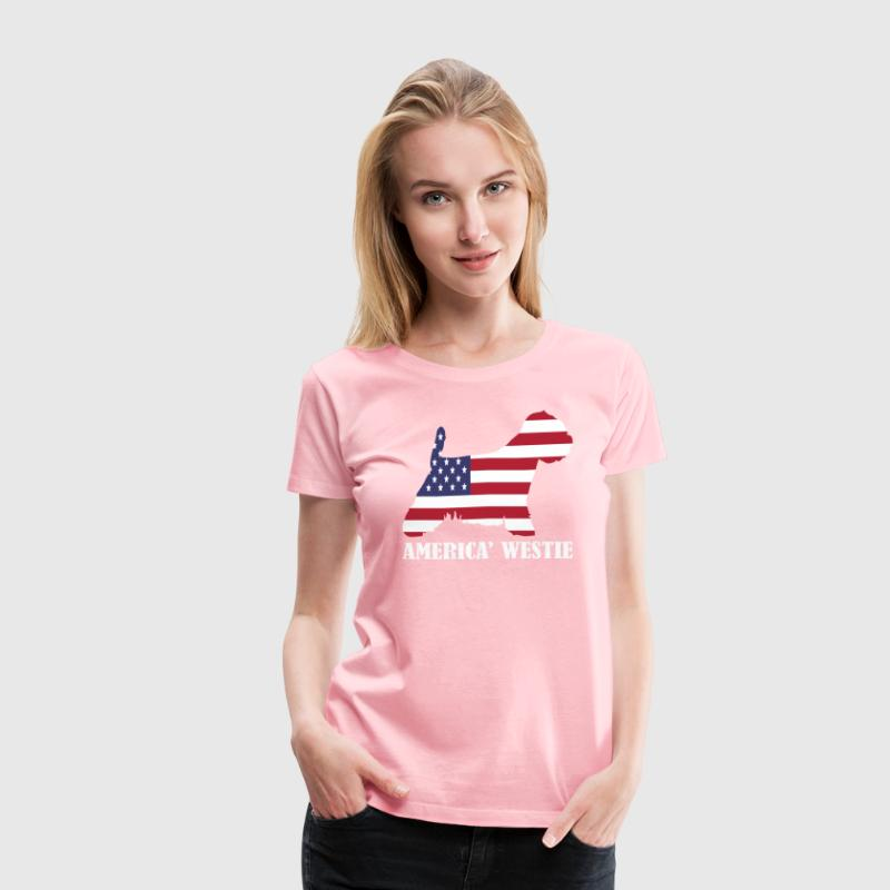 American Westie Dog Flag Memorial Day USA T-Shirt | Spreadshirt