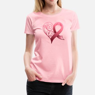 Breast Cancer Support Breast Cancer Ribbon - Women's Premium T-Shirt