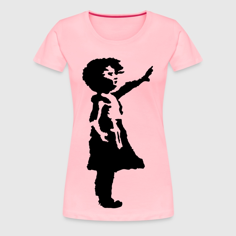 Little Girl Silhouette - Women's Premium T-Shirt