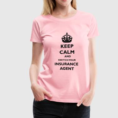 Insurance keepcalmblack - Women's Premium T-Shirt
