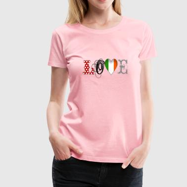 Love Ireland Black - Women's Premium T-Shirt