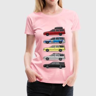Bbs Rs Stack of  Volvo 850R T5 Wagons - Women's Premium T-Shirt